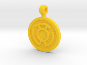 Yellow Fear Pendant in Yellow Processed Versatile Plastic