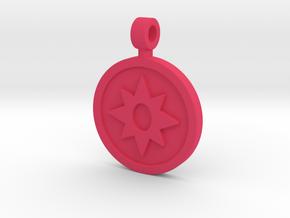 Star Saphire Pendant in Pink Processed Versatile Plastic