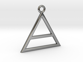 Triad Pendant in Fine Detail Polished Silver