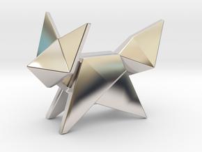 Origami Fox in Platinum