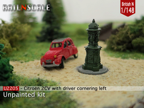 Citroën 2CV - cornering (British N 1:148) in Smooth Fine Detail Plastic