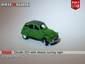 Citroën 2CV - parked (British N 1:148) in Smooth Fine Detail Plastic