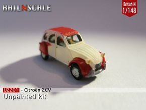 Citroën 2CV (British N 1:148) in Smooth Fine Detail Plastic