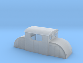Upper chassis for E13  electric model locomotive in Smooth Fine Detail Plastic