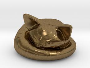 itty bitty sleepy kitty in Natural Bronze