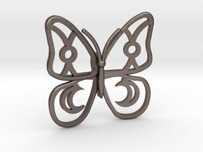 Butterfly  in Polished Bronzed Silver Steel