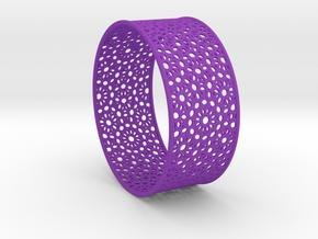 7cm Bracelet Flower Pattern Flat in Purple Processed Versatile Plastic