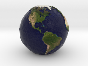 Tactile Miniature Earth in Full Color Sandstone