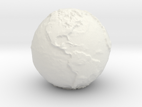 Tactile Miniature Earth in White Natural Versatile Plastic