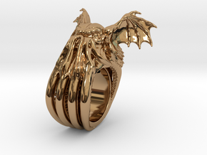 Cthulhu Ring in Polished Brass: 11 / 64