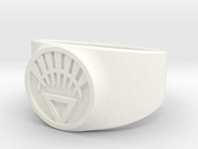 White Life Ver 2 GL Ring Sz 15 in White Processed Versatile Plastic