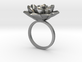 Rose Ring 17.3mm in Natural Silver: 5 / 49