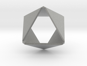 Folded Hexagon in Metallic Plastic