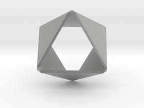 Folded Hexagon in Metallic Plastic
