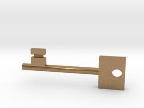 Skeleton Key in Natural Brass
