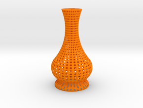 Candle light holder (Decorative) in Orange Processed Versatile Plastic