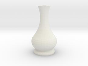 Candle Holder Square in White Natural Versatile Plastic