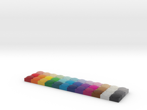 +test structure Tinkercad color palette 3 inch in Full Color Sandstone