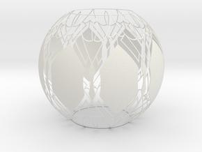 Lampshade (Designer Sphere1) in White Strong & Flexible
