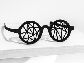 DATA IN EXILE — Parallax Glasses in Black Natural Versatile Plastic