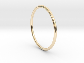 Round One Ring - Sz. 9 in 14K Gold