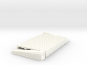 """1/8 Intercooler 24"""" Flow Length By 16"""" Wide in White Strong & Flexible Polished"""