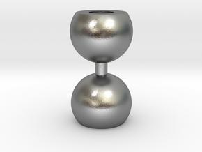 Ikebana Vase-10 in Natural Silver