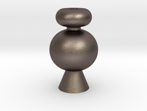 IkebanaVase-4 in Polished Bronzed Silver Steel
