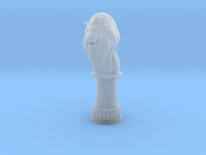 Lion Bishop (Round Base) in Smooth Fine Detail Plastic