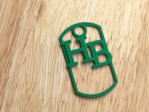 HB dog tag -- Hagerman Bobcats! in Green Strong & Flexible Polished