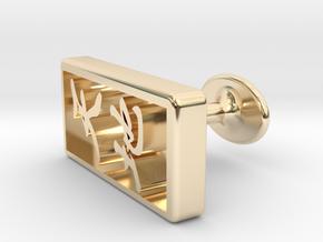 Tenchi(The universe) Cufflinks in 14K Yellow Gold