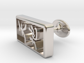 Tenchi(The universe) Cufflinks in Platinum