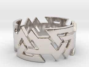 Valknut ring. Ring Size 11 in Platinum