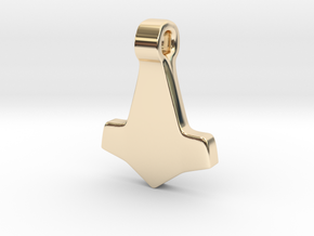 Thors Hammer #3 in 14K Yellow Gold