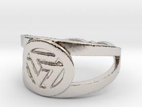 Valknut insignia ring Ring Size 7 in Platinum