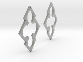 Diamonds And Circles Earrings in Metallic Plastic