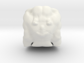 Loki head in White Natural Versatile Plastic