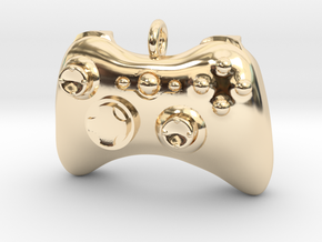 Xbox 360 Controller Pendant (Large) in 14K Yellow Gold