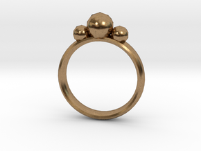 GeoJewel Ring UK Size R US Size 8 5/8 in Natural Brass