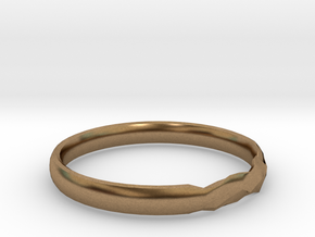 Shadow Ring US Size 8 UK Size Q in Natural Brass