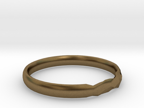 Shadow Ring US Size 8 UK Size Q in Natural Bronze