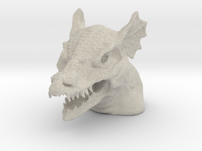 Dragon Bust - Reduced Material Version in Natural Sandstone