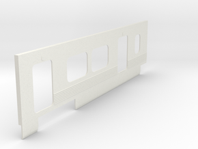 2550 Left Side Panel in White Natural Versatile Plastic