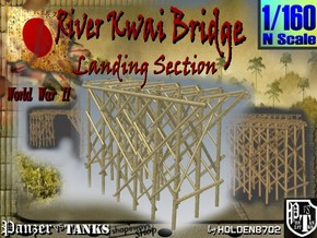 1-160 Bridge River Kwai Landing Section in Smooth Fine Detail Plastic