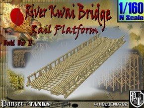 1-160 Bridge River Kwai Platform in White Natural Versatile Plastic