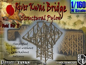 1-160 Bridge River Kwai Simplified Structural Pylo in White Natural Versatile Plastic
