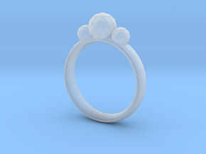 GeoJewel Ring UK Size Q US Size 8 in Smooth Fine Detail Plastic