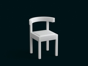 1:39 Scale Model - Chair 04 in White Natural Versatile Plastic