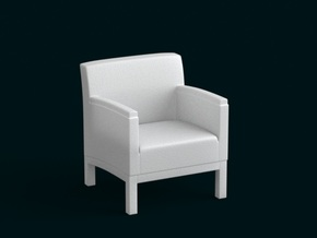 1:39 Scale Model - ArmChair 03 in White Natural Versatile Plastic