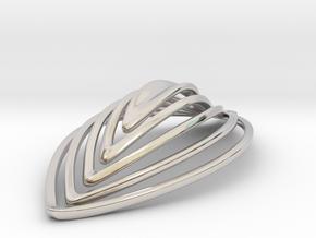 Katie's Leaf Earring in Platinum